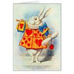 El conejo en Alicia en tarjeta del ~ del país de l