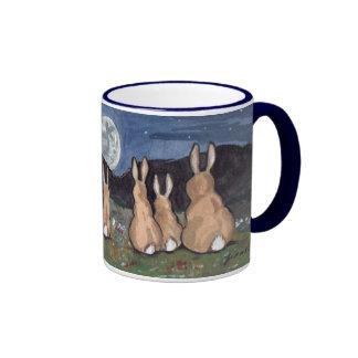 El conejo en ilustraciones encantadoras originale tazas