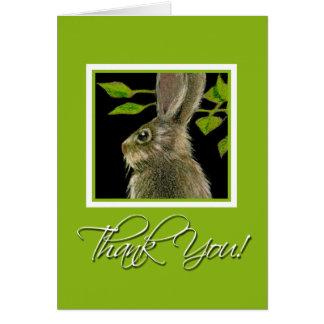 El conejo le agradece Notecards Tarjeta Pequeña