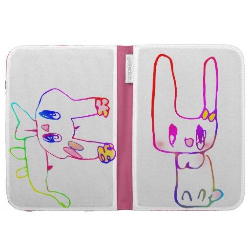 El conejo que el niño dibuja
