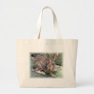 El conejo representa la bolsa de asas de la lona