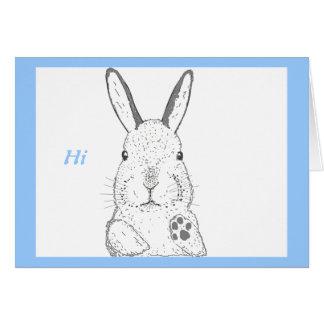 El conejo y otro diseña tarjeta de felicitación