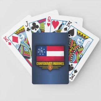 El confederado indica la bandera de los infantes d baraja de cartas bicycle