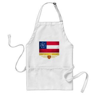 El confederado indica la bandera de los infantes d delantal