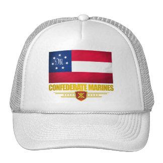 El confederado indica la bandera de los infantes d gorros bordados