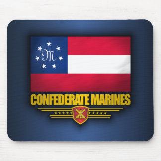 El confederado indica la bandera de los infantes d mousepad
