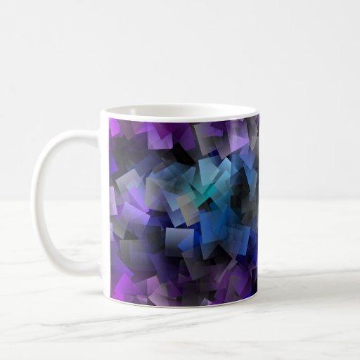 El confeti ajusta la taza de café multicolora 3D