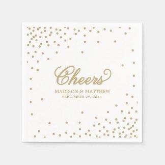 El confeti anima servilletas de papel personalizad