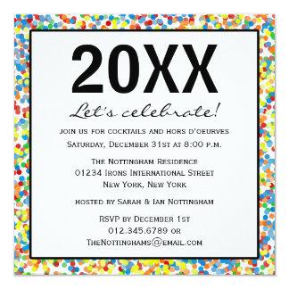 El confeti asperja al fiesta de los Años Nuevos Invitaciones Personalizada