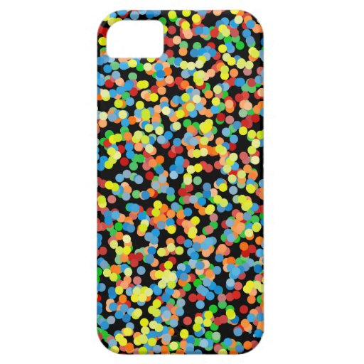 El confeti del arco iris asperja iPhone 5 Case-Mate carcasa