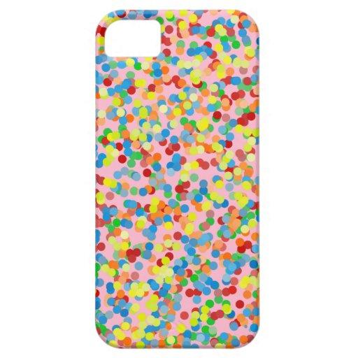 El confeti del arco iris asperja funda para iPhone SE/5/5s