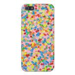 El confeti del arco iris asperja iPhone 5 cárcasas