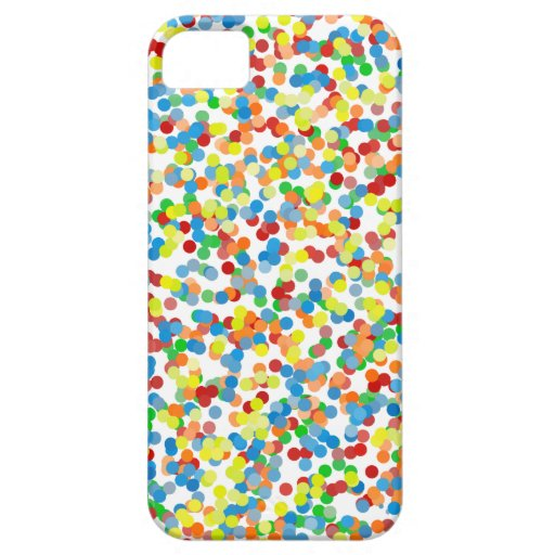 El confeti del arco iris asperja iPhone 5 funda