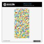 El confeti del arco iris asperja calcomanías para iPhone 4S