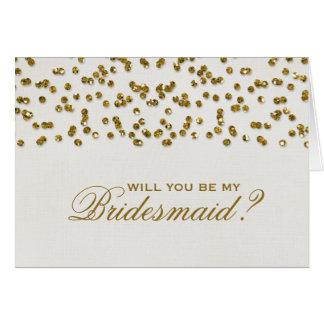 El confeti del brillo del encanto del oro sea mi tarjeta pequeña