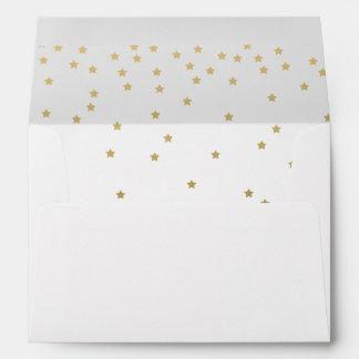 El confeti del oro protagoniza sobres impresos el