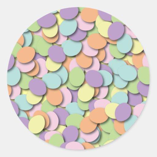 El confeti Eggs al pegatina