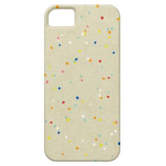 El confeti minúsculo del arco iris de los puntos funda para iPhone SE/5/5s