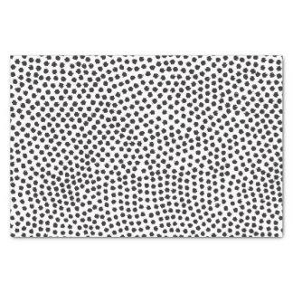 El confeti negro de lujo puntea el papel seda papel de seda pequeño