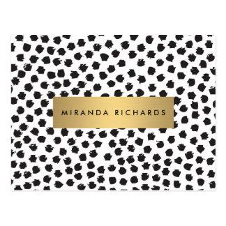 El confeti negro de lujo puntea II con la postal