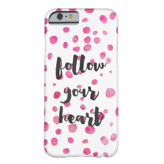 El confeti rosado bonito de la acuarela sigue su funda para iPhone 6 barely there