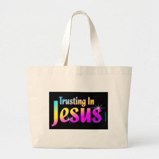 El confiar en en Jesús Bolsa Tela Grande