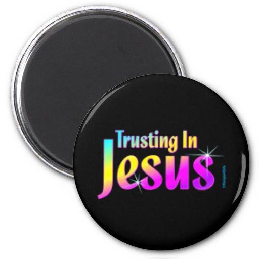 El confiar en en Jesús Imán Redondo 5 Cm