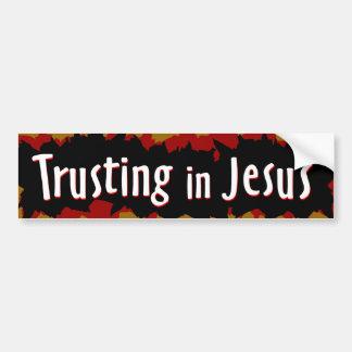 el confiar en en Jesús Pegatina Para Auto
