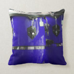 El conga azul brillante teclea la foto almohada