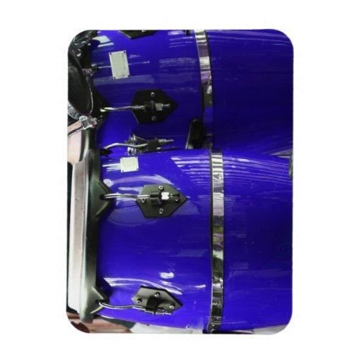 El conga azul brillante teclea la foto imanes