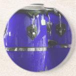 El conga azul brillante teclea la foto posavasos diseño