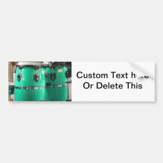 El conga de la verde menta teclea photo jpg etiqueta de parachoque