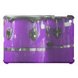 El conga púrpura brillante teclea la foto