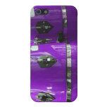 El conga púrpura brillante teclea la foto iPhone 5 protectores