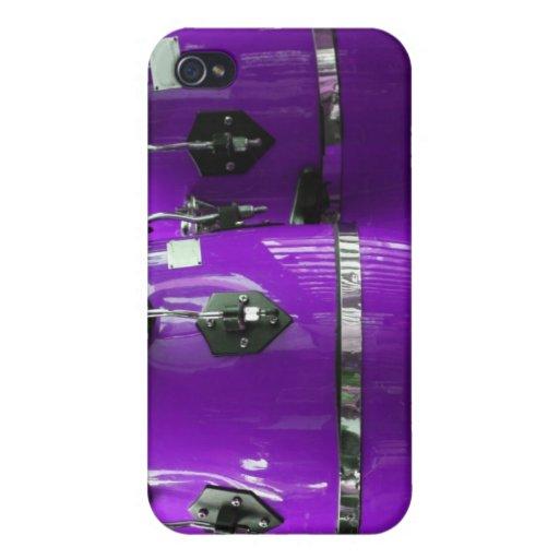 El conga púrpura brillante teclea la foto iPhone 4 carcasa