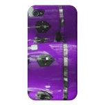 El conga púrpura brillante teclea la foto iPhone 4 protectores
