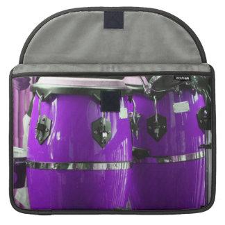 El conga púrpura brillante teclea la foto fundas para macbook pro