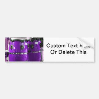 El conga púrpura brillante teclea la foto pegatina para auto