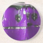 El conga púrpura brillante teclea la foto posavasos personalizados