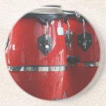 El conga rojo brillante teclea photo.jpg posavasos manualidades