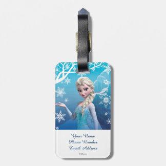 El   congelado Elsa sobre la sonrisa boba del Etiquetas Para Maletas