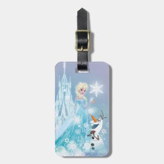 El   congelado Elsa y Olaf - resplandor helado Etiquetas Para Maletas