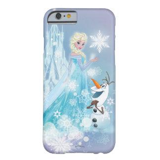El | congelado Elsa y Olaf - resplandor helado Funda Barely There iPhone 6