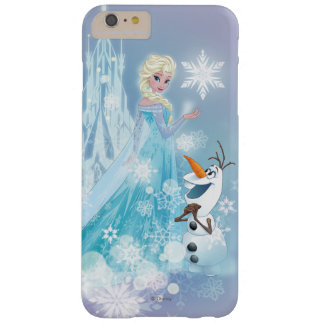 El | congelado Elsa y Olaf - resplandor helado Funda Barely There iPhone 6 Plus