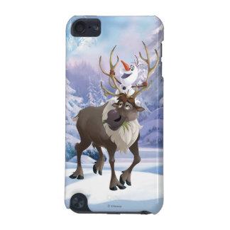 El   congelado Olaf que se sienta en Sven Carcasa Para iPod Touch 5G