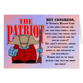 El congreso 1 del patriota tarjeta