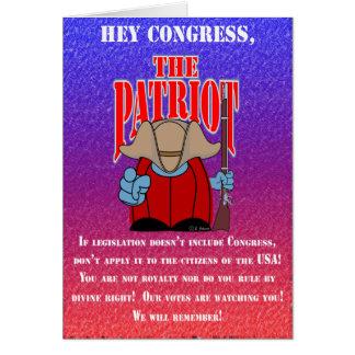 El congreso 3 del patriota tarjeta