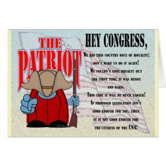 El congreso 4 del patriota tarjeta de felicitación