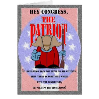 El congreso 5 del patriota tarjeta de felicitación