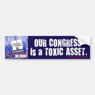El congreso es pegatina para el parachoques tóxica pegatina para auto